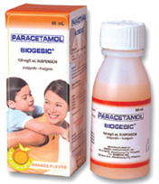 Paracetamol and Fragments of the True Cross is the Generic Name of Biogesic for Kids